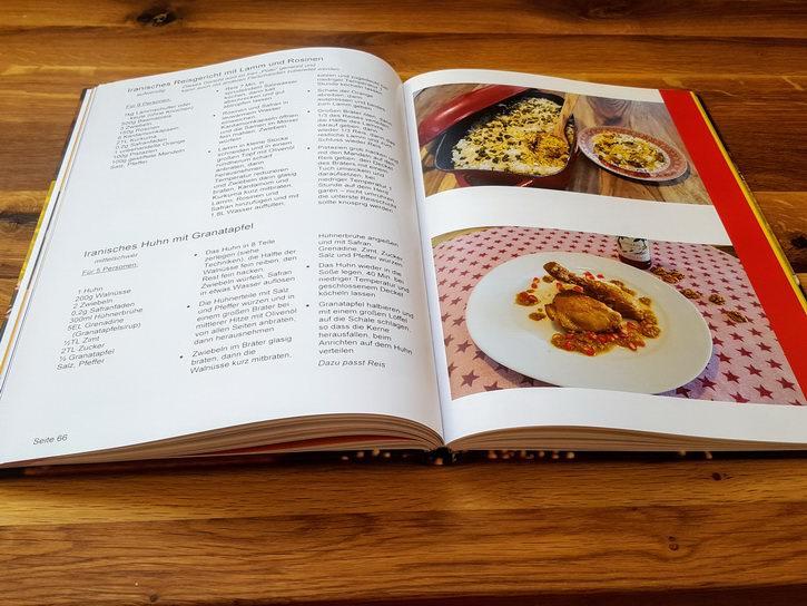 Unser Kochbuch Hardcover - Aufgeschlagen